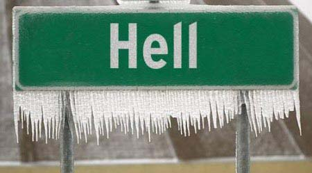 Did hell just froze over because of Texas?